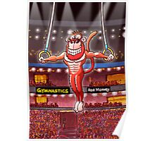 Olympic Flying Rings Monkey Poster