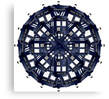 Tardis Kaleidoscope Canvas Print