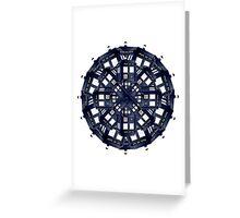 Tardis Kaleidoscope Greeting Card