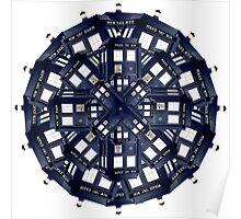 Tardis Kaleidoscope Poster