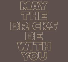 """""""MAY THE BRICKS BE WITH YOU"""" by Customize My Minifig Baby Tee"""