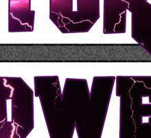 Natural Power - Lightning text Sticker