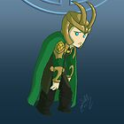 Sad Loki by Sara Machajewski