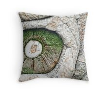 Green eye Throw Pillow