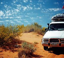 Crossing The Simpson Desert. QAA Line, Queensland, Australia. by Ralph de Zilva