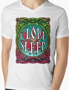 STONER DOOM I LOVE SLEEP Mens V-Neck T-Shirt