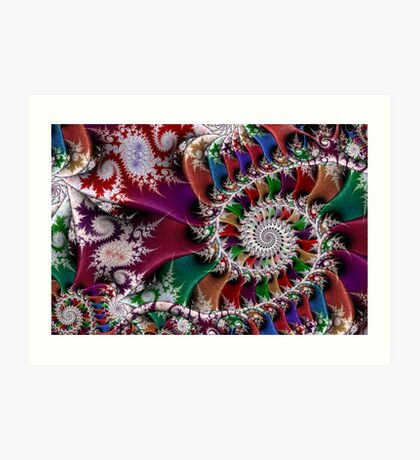 Spiral Mosaic Art Print