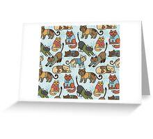 Christmas Cats Greeting Card