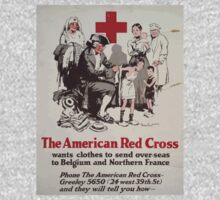 The American Red Cross wants clothes to send over seas to Belgium and Northern France Phone the American Red Cross Greeley 5650 24 west 39th St and they will tell you how Baby Tee