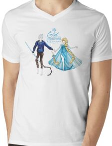 Cold never bothered me anyway (Jelsa) Mens V-Neck T-Shirt