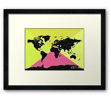 World map Ultra TM Framed Print
