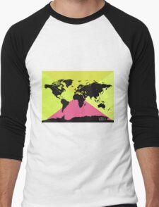 World map Ultra TM Men's Baseball ¾ T-Shirt
