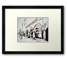 Venetian market Framed Print
