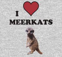 I Heart Meerkats (T-Shirt & Sticker ) One Piece - Short Sleeve