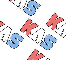 K.A.S  Slanted Logo Phone Cover by K. A .S