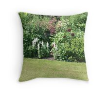 A mixture of summer flowers Throw Pillow