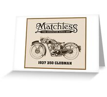 Matchless British classic motorcycle Greeting Card