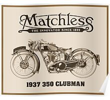 Matchless British classic motorcycle Poster