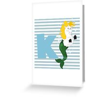 k for kelpie Greeting Card