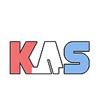K.A.S Large Logo Phone Cover - White by K. A .S