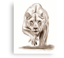 Hunting gently colorless Canvas Print