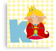 k for king Canvas Print