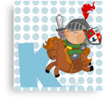 k for knight Canvas Print