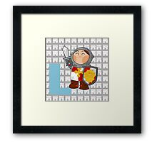 l for lancelot Framed Print