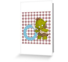 o for orc Greeting Card