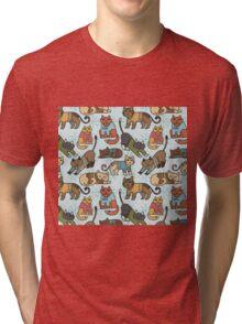 Christmas Cats Tri-blend T-Shirt