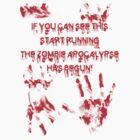 Zombie Apocalypse  by Palomar78