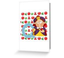 q for queen Greeting Card
