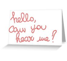 Adele Hello Greeting Card