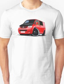 VW T5 (A) Red Unisex T-Shirt