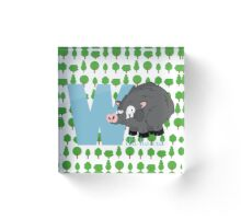 w for wild board Acrylic Block