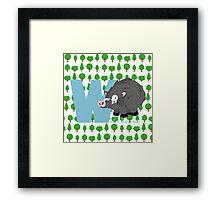 w for wild board Framed Print