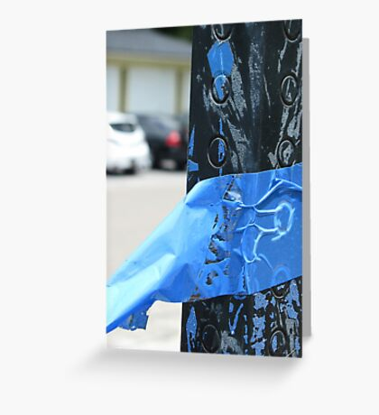 Blue tape Greeting Card