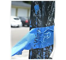Blue tape Poster