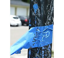 Blue tape Photographic Print
