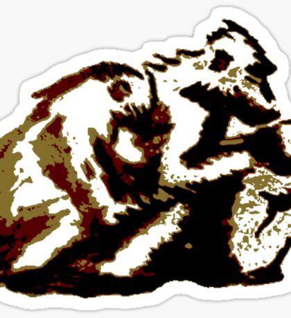 Baboon Huddle Sticker