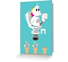 Rainbow Unicorn Ice Cream Greeting Card