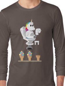 Rainbow Unicorn Ice Cream Long Sleeve T-Shirt