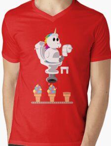 Rainbow Unicorn Ice Cream Mens V-Neck T-Shirt
