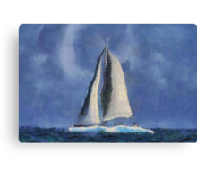 Sailing Away Canvas Print
