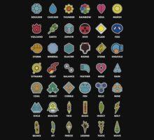 Pokemon Badges Kids Clothes