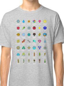 Pokemon Badges Classic T-Shirt