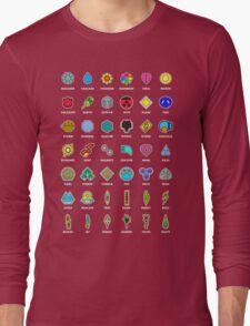 Pokemon Badges Long Sleeve T-Shirt