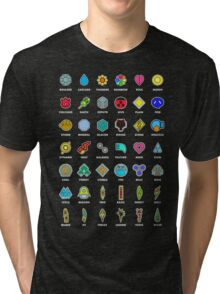 Pokemon Badges Tri-blend T-Shirt