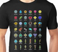 Pokemon Badges Unisex T-Shirt