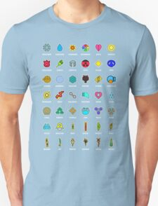 Pokemon Badges Unisex T-Shirt